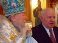 Паисий и губернатор Е. Строев в Покровском храме.