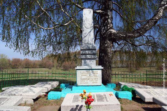Общий вид воинского захоронения д. Елизаветино