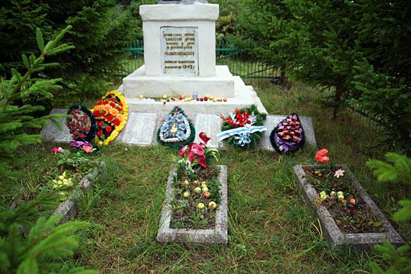 Общий вид воинского захоронения д. Луковец