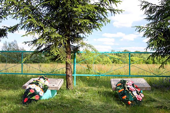 Общий вид воинского захоронения д. Ясная Поляна