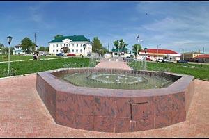 Красавец-фонтан в Малоархангельске. Фото — Сергее4