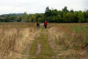 Дорога к братской могиле в Луковце