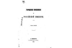 Городские поселения в Российской Империи, том III. 1863 г. СПб