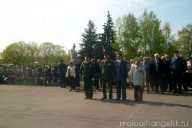 9 мая 2009 года в Малоархангельске. Поздравление ветеранов.