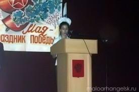 9 мая 2009 года в Малоархангельске. Выступление школьников.