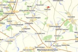 Д. Панская на карте