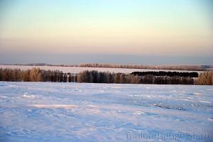 Поля агрофирмы Дубовицкое. Зима 2010 года