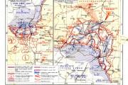 Карта расположения войск. Орловско-Курское направление, 5-15 июля 1943 года.