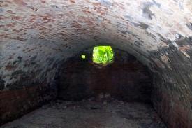 Подвал на усадьбе помещика Киреевского, вид изнутри.
