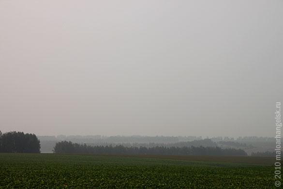 Дым над полями Малоархангельского района