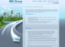 Страница сайта компании IMS Group