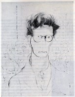 Е. Ф. Софронова. Человек в очках на фоне толпы. 1924 г.