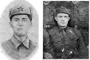 Легостаев Василий Андреевич слева, Панов Иван Петрович справа