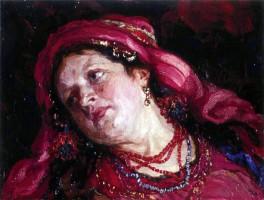 Струнников Н.И. Портрет жены. 1917 г. Донецкий художественный музей.