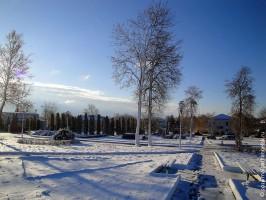 Первый снег в Малоархангельске. 28 октября 2010 года. Фото.