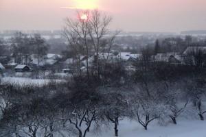 Зимнее солнце над Малоархангельском.