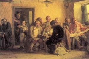 В.М. Васнецов. Чаепитие в трактире (В харчевне). 1874 г., холст, масло.