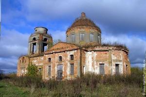 Богоявленский храм села Верхососенье в наши дни. Общий вид.