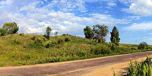 Панорама подъёма по дороге в село Первая Ивань Малоархангельского района. Нажмите на изображение, чтобы перейти к осмотру (откроется в новом окне).