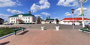 Панорама центра Малоархангельска. Нажмите на изображение, чтобы перейти к осмотру (откроется в новом окне).
