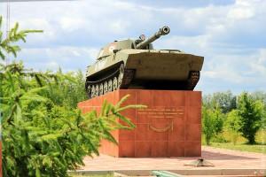 Танк в Малоархангельске: самоходная гаубица 2С1.