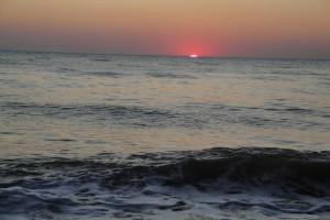 Море. Закат.