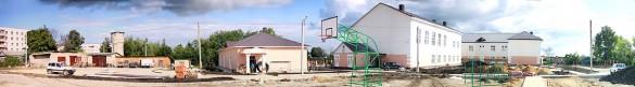 Общий вид территории школьного двора.