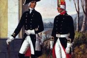 Вот таким шарфом удушили Павла I (на офицере слева).