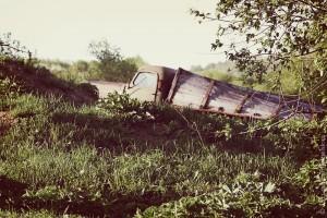 Старый автомобиль.