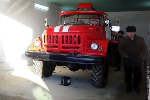 Пожарный автомобиль в Дубовике.