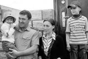 Семья потомственного участкового уполномоченного местного РОВД майора милиции А. В. Малыгина.