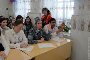 На конкурсе юнармейских отрядов в Малоархангельске.