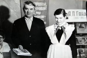 Иван Сергеевич Разинков на встрече со школьниками.