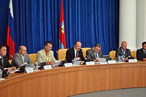 На сессии Орловского областного Совета народных депутатов.