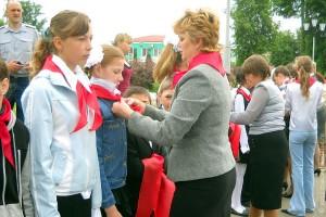 Пионерская организация Малоархангельска пополнилась новыми членами.