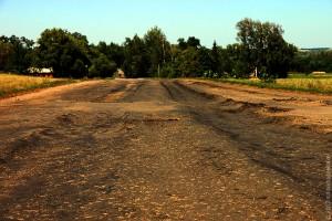 Дорога между Губкино и Луковцем в сторону Губкино.