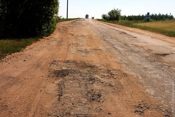 Дорога между Губкино и Луковцем в сторону Луковца.