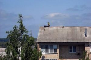 Починка крыши.