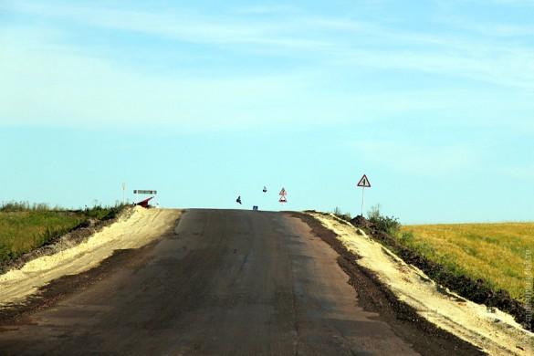 Новое дорожное покрытие на дороге Глазуновка — Малоархангельск.