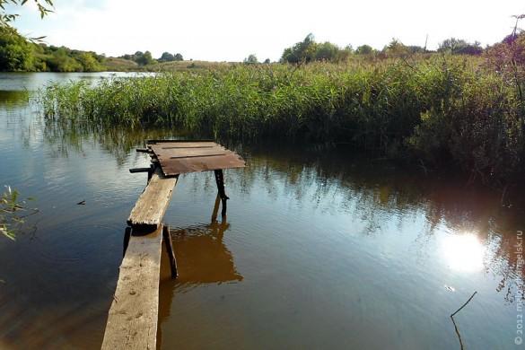 Мостки на Алисовском пруду.