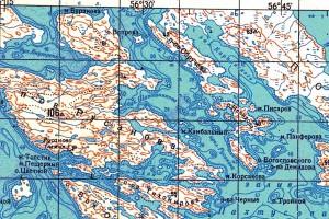 Острова Демидова (в правом нижнем углу).