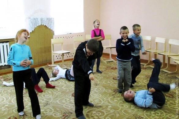Театр-студия «Ступени» на репитиции.