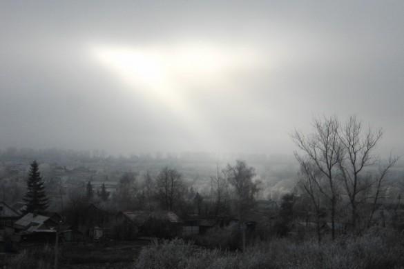 Луч солнца над Малоархангельском.