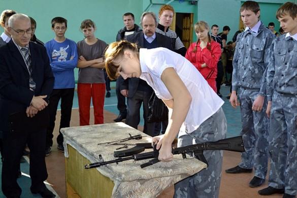 Эстафета. Разборка и сборка оружия (АК).