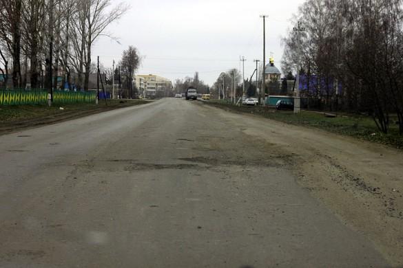 Кусок дороги на улице Калинина 20-11-2013.