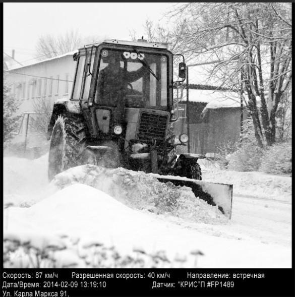 Штраф за превышение скорости, выписанный трактористу в Малоархангельске.