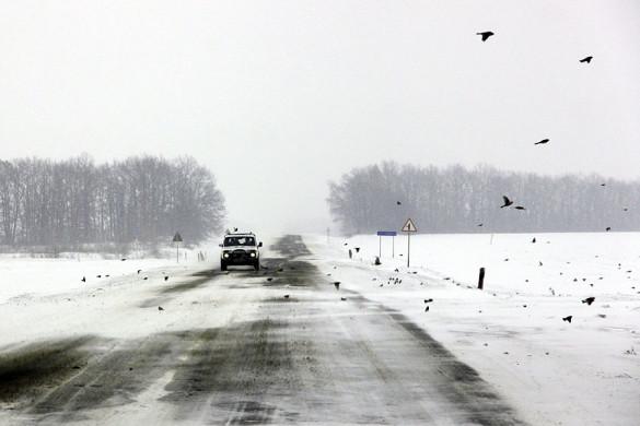 Зимняя дорога в Малоархангельском районе.