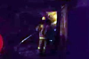 Тушение пожара в деревне Второе Коротеево.