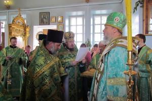 Праздник отдания Пятидесятницы в Малоархангельском храме.