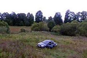 Водитель автомобиля Рено не справился с управлением и допустил опрокидывание в кювет.